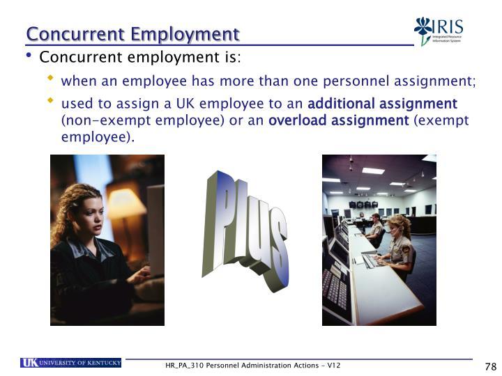 Concurrent Employment