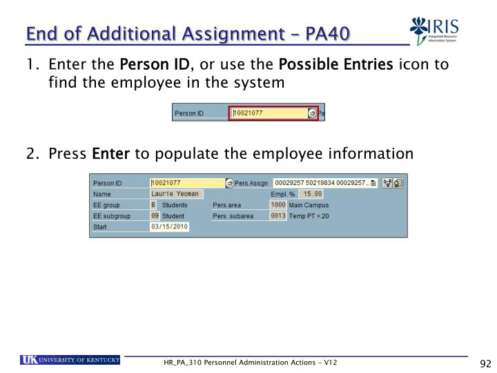 End of Additional Assignment – PA40
