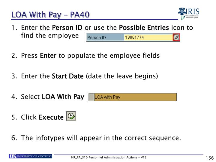 LOA With Pay – PA40