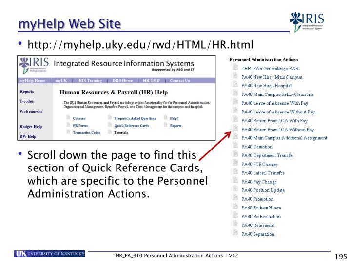 myHelp Web