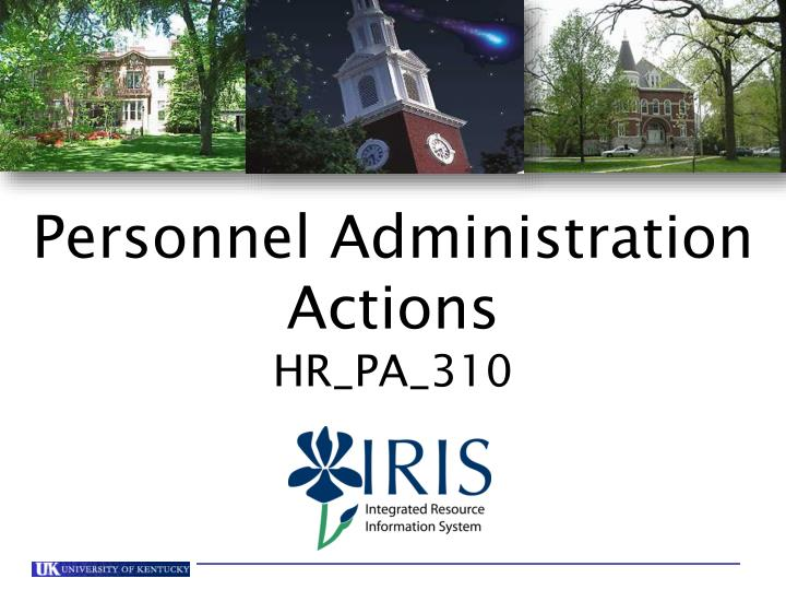 Personnel Administration Actions