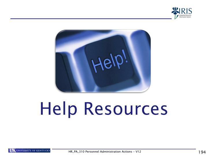 Help Resources