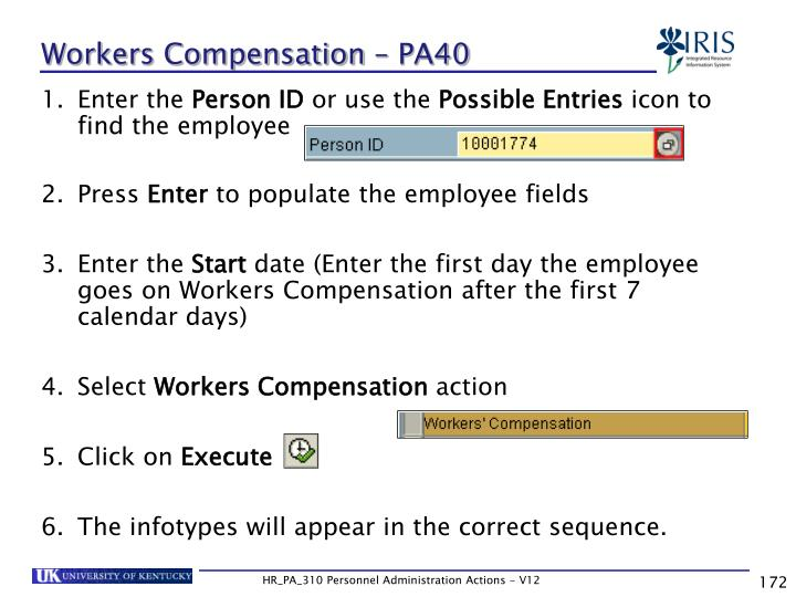 Workers Compensation – PA40