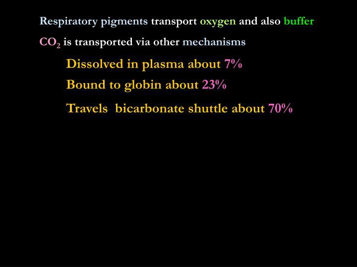 Respiratory pigments