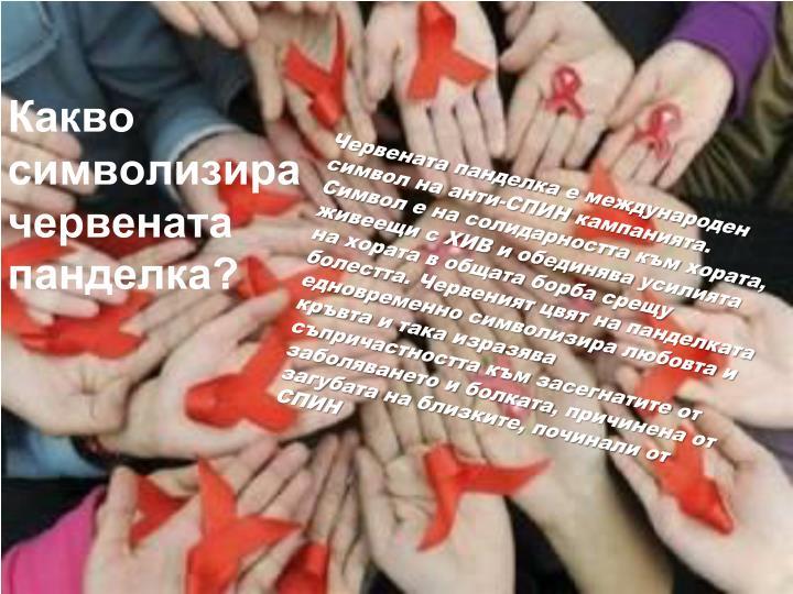 Какво символизира червената панделка?