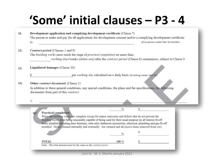 'Some' initial clauses – P3 - 4