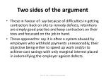 two sides of the argument