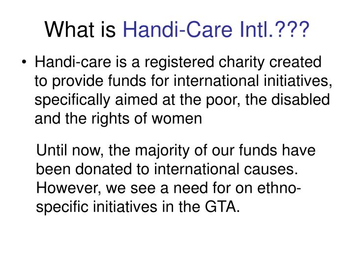 What is handi care intl
