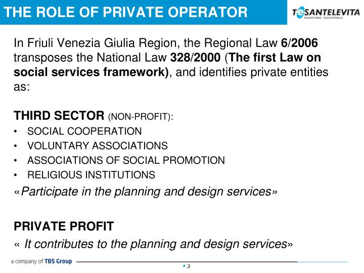 The role of private operator1