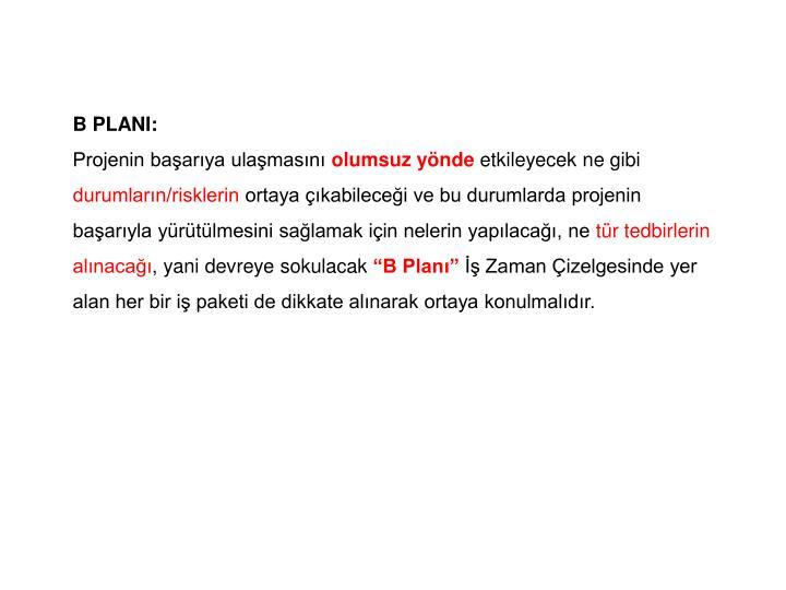 B PLANI: