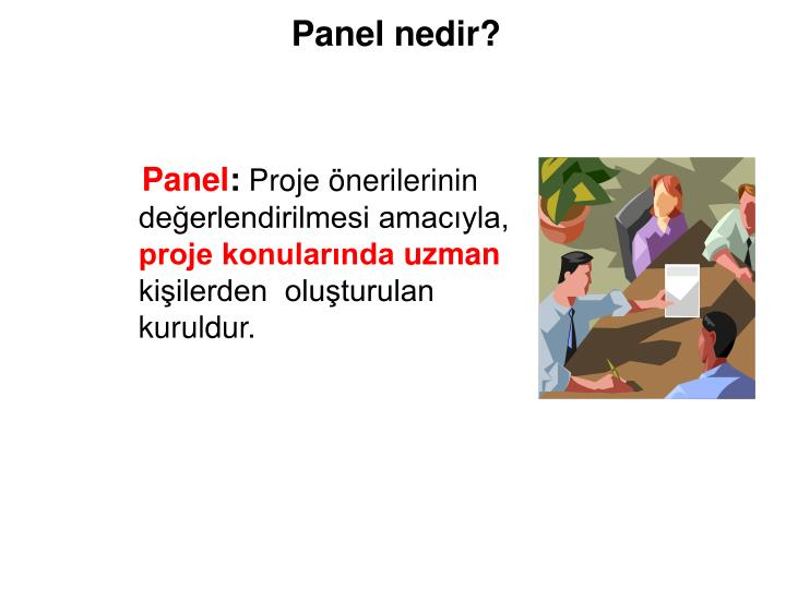 Panel nedir?