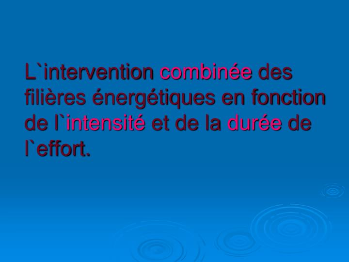 L`intervention