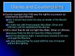 claims and counterclaims1