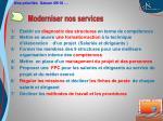 moderniser nos services