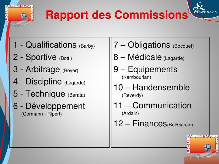 1 - Qualifications