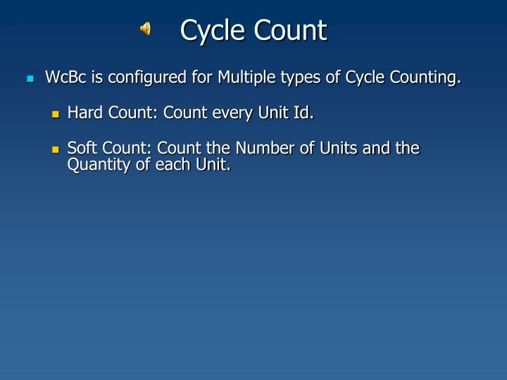 Cycle count