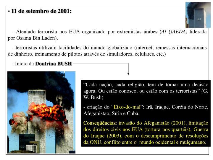 11 de setembro de 2001: