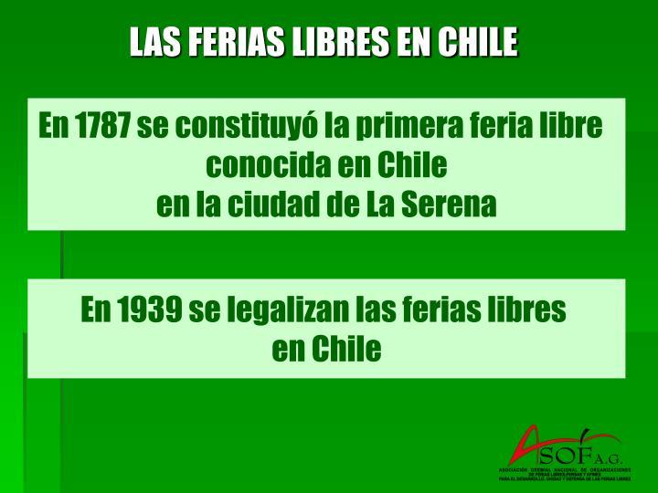 LAS FERIAS LIBRES EN CHILE