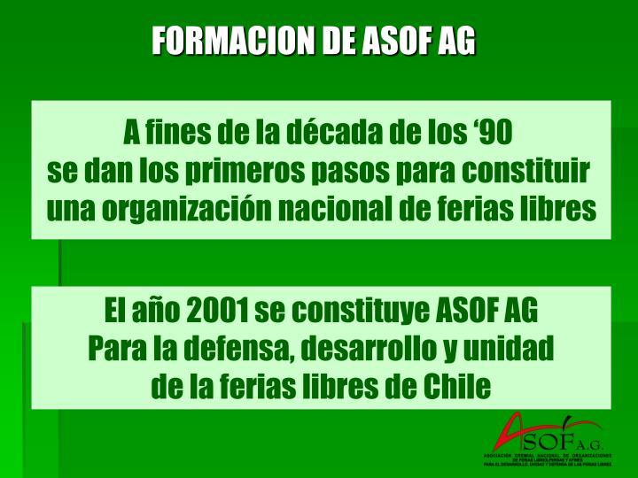 FORMACION DE ASOF AG