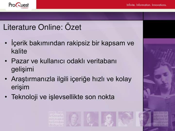 Literature Online: