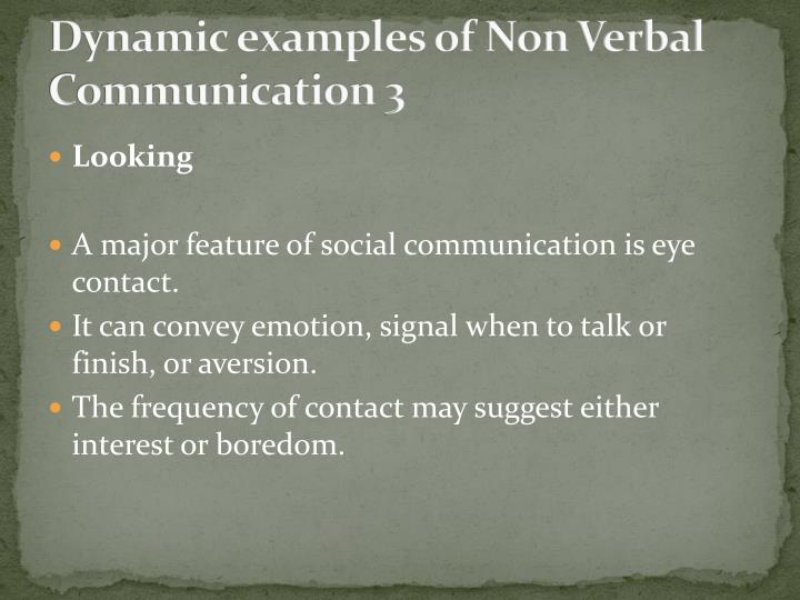 Dynamic examples of Non Verbal Communication 3