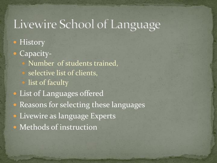 Livewire School of Language