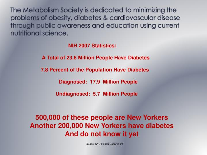 The Metabolism Society is dedicated to minimizing the