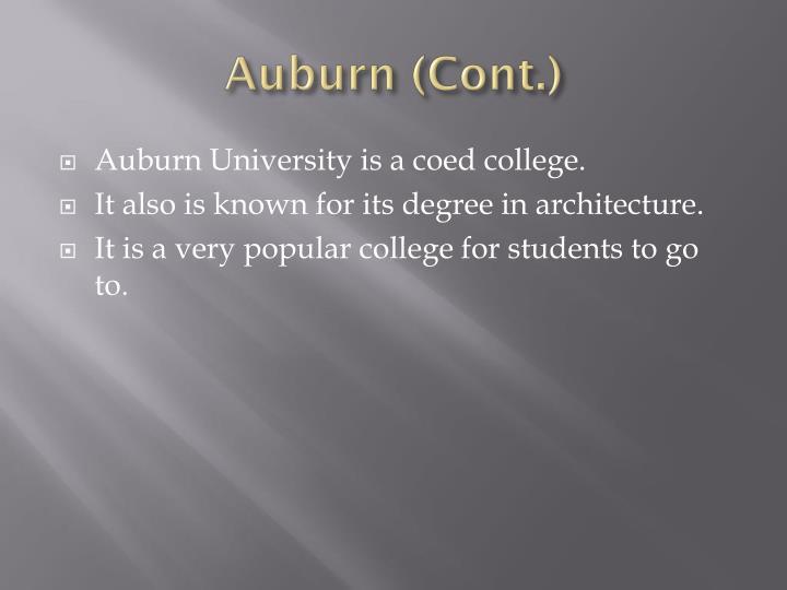 Auburn (Cont.)