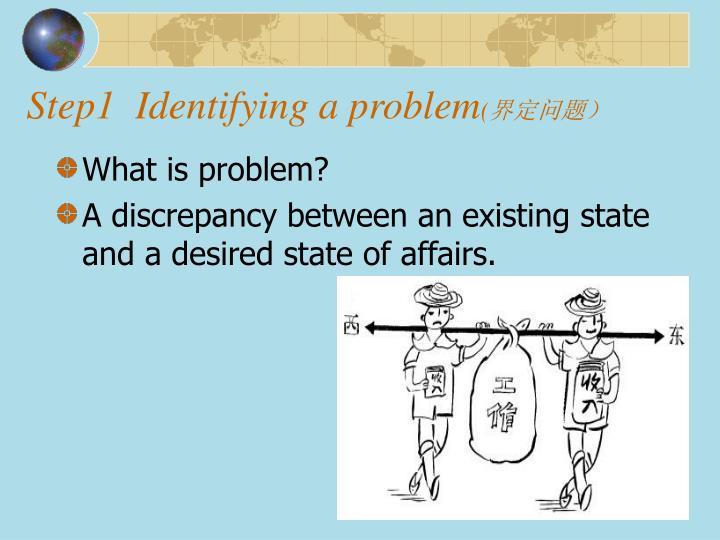 Step1  Identifying a problem