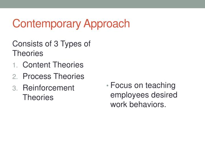 Contemporary Approach