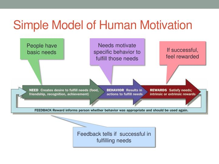 Simple model of human motivation