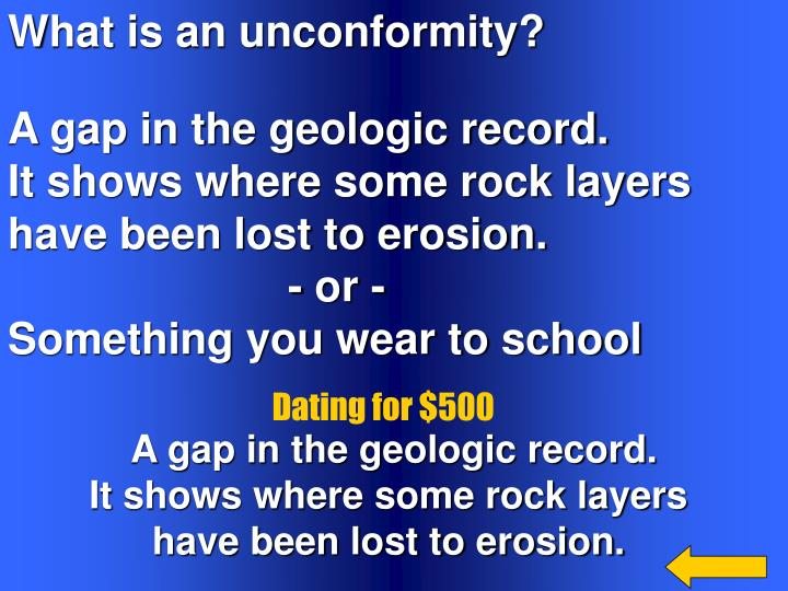 What is an unconformity?