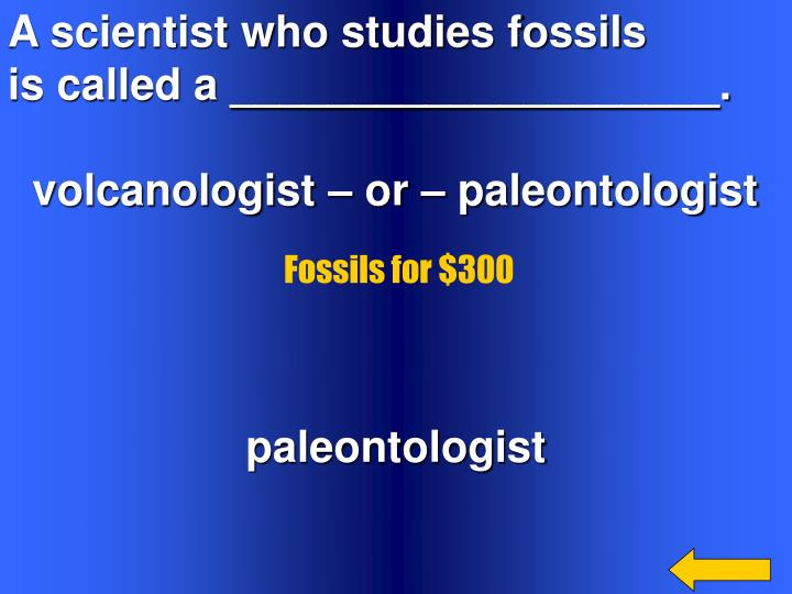 A scientist who studies fossils