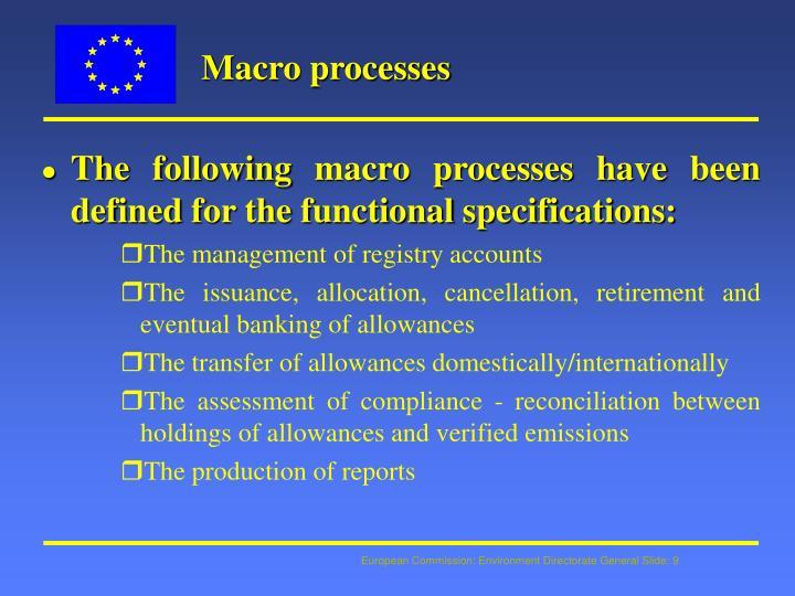 Macro processes