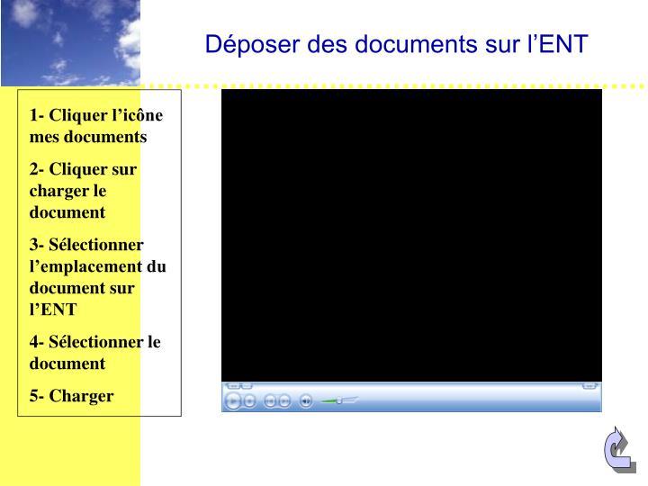Déposer des documents sur l'ENT