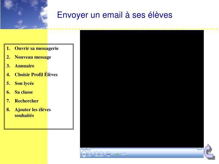 Envoyer un email à ses élèves
