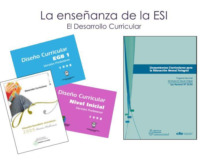 La enseñanza de la ESI