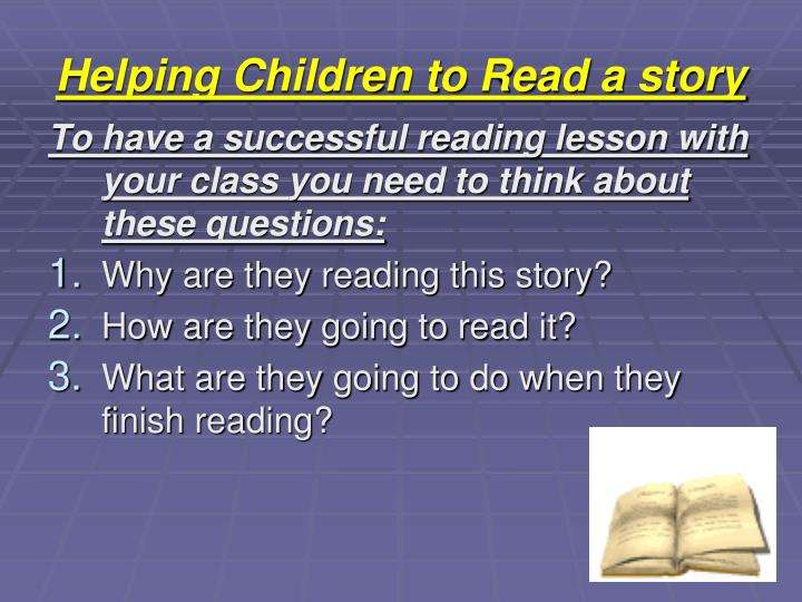 Helping Children to Read a story