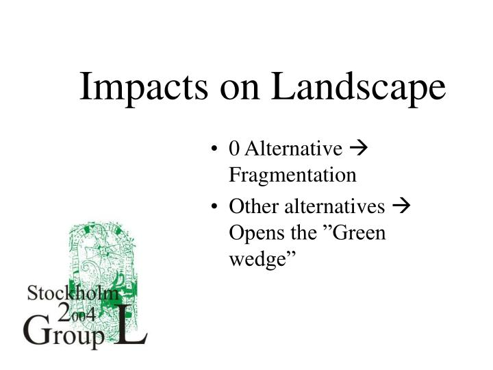 Impacts on Landscape
