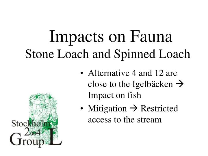 Impacts on Fauna