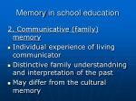 memory in school education1