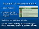research of the family memory1