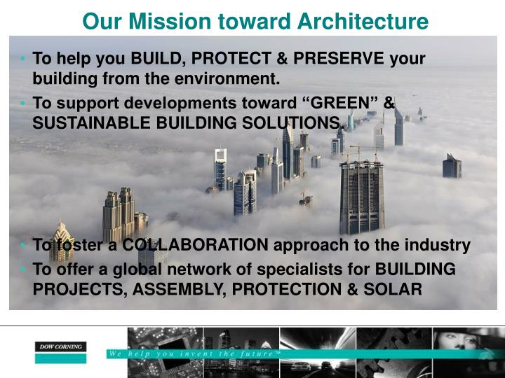 Our Mission toward Architecture
