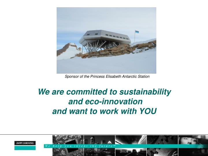 We are committed to sustainability