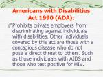 americans with disabilities act 1990 ada