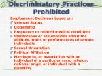 discriminatory practices prohibited