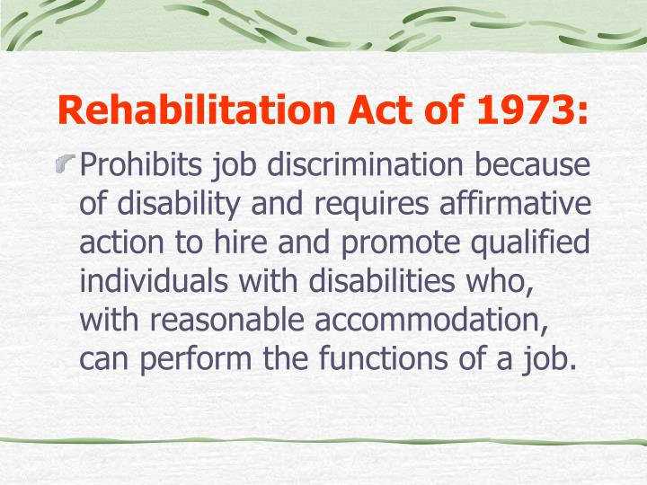 Rehabilitation Act of 1973: