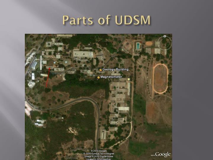Parts of UDSM