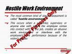 hostile work environment