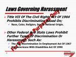 laws governing harassment